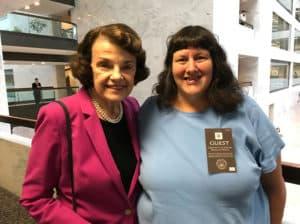 Tia with Senator Feinstein.